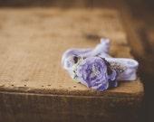 Purple Lilac Stretch Headband