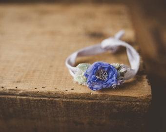 Purple Blue Stretch Headband