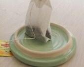 Tea bag Holder   Handmade Ceramic Tea Bag Rest Small Spoon Rest Pottery
