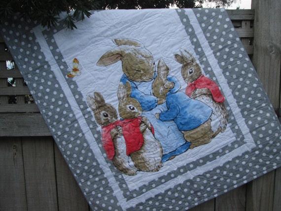 Peter Rabbit Baby Quilt Beatrix Potter Nursery Decor Baby