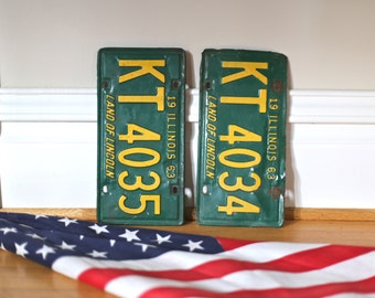 Vintage Illinois license plates from 1963