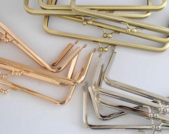 """15 pcs - 7.5"""" x 2.5"""" Nickel free Metal purse frame - Nickel / Rose Gold / Antique Gold"""