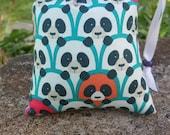 Pendant/Small, Panda, Panda Bear,  Print, Pipe Bags, Pipe Bag, Glass Pipe Protection, Pretty Pouches, Glass Pipe Bag, Pipe Cozy