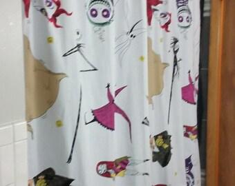 Vintage Nightmare Before Christmas shower curtain