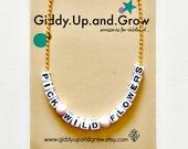 Wild Flowers Necklace Little Girls Jewelry giddyupandgrow