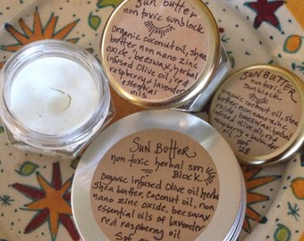 Natural and non toxic . Coconut vanilla Eco Sunscreen