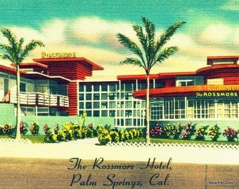 Art Gifts, Art Gifts for Women, MCM Wall Art, Beach Art, Mid Century Modern Art, MCM Gift Old Florida Art Deco Motel Art Beach Art