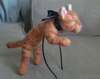 Cat headband - wearable cat - cat hat - feline headwear