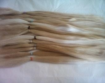Combed  Suri Alpaca / MSD / Mini / Long Doll Hair / BJD / Re-born  / fiber artist (25)