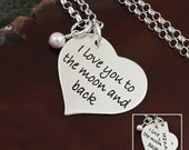 I Love You To The Moon And Back Heart Necklace