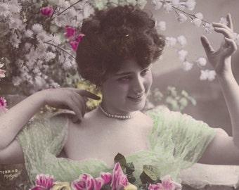Springtime Beauty 2, Carmen De Villers by E. Stebbing, circa 1905,