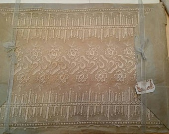 Exquisite Wide Antique French Lace Trim on Original Packaging