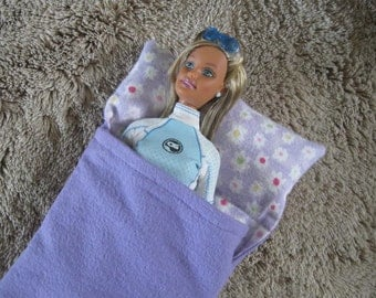 Barbie Doll Flannel Sleeping Bag
