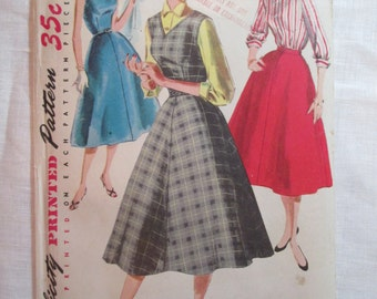 "Antique 1955 Simplicity Pattern #1246 - size 34"" Bust"