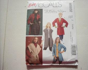 Pattern Womens Cardigan Sweater 4 Styles Sizes 16 to 22 McCalls 5932
