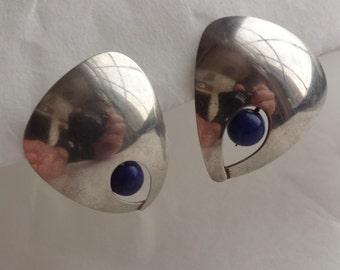 Sterling Malachite Earrings Handmade