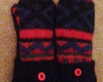 Childrens Mittens Recycled Wool Sweater Mittens