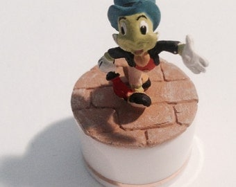 """Very Tiny Jiminy Cricket CacheBox From Disney's """"Cast of Characters Collection"""", So Sweet!"""