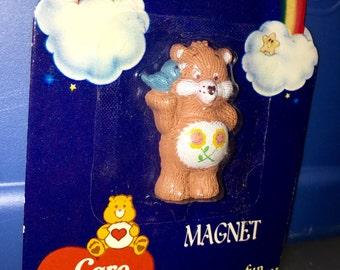 vintage 1985 care bears American greetings PVC figurine magnet friend bear  RAD MIP mint in package