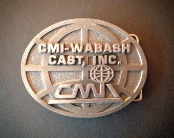Vintage Belt Buckle Cast Metal CMI-Wabash Workwear Vintage Fashion Accessories
