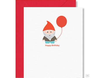 Birthday Card / Gnome Birthday Card / Happy Birthday Card / Garden Gnome