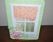 Set of Four Grandmas Spring  Window  Handmade Greeting Cards