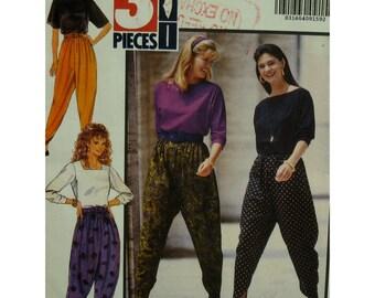 Low crotch Pants Pattern, Zuoave, Harem Pants, Elastic Waist, Slanted Ankle, Butterick No. 5186 UNCUT Size XS S M (6-14)