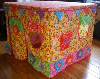 PATTERN for Itsy Bitsy Bungalow Playhouse, card table playhouse