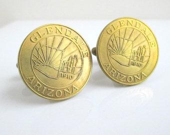 Glendale, AZ Token Cuff Links - Vintage Repurposed Coins