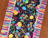 Happy Birthday Table Runner with Jumbo Ric Rac by Sweet Tooth Quilts