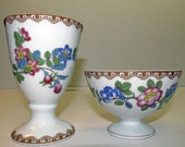 Two floral pattern Rosenthal Seb Bavarian bowls cups containers