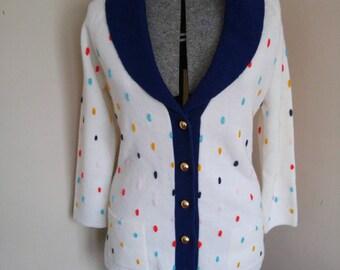 Adrorable Vintage Polka Dot Cardigan