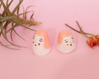 Pair of Peach Babes