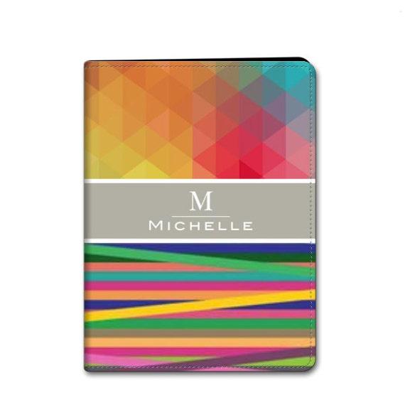 Custom Personalized Monogram iPad Mini iPad Air iPad 2 / 3 Hard or Folio Case -  Designer Hardshell Cover