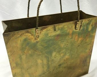 Vintage Brass Gift Bag