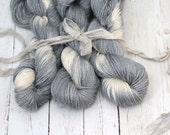 "Hand dyed Yarn Baby Alpaca, Silk, Linen ""Leiana"" DK Weight  Swoon Fibers ""Stone Hues"""
