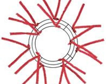10 Inch Red Deco Mesh Wreath XX167824, Poly Mesh Supplies