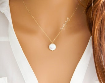 Mother day Necklace, Gift for Mom, Freshwater Pearl Necklace, Sterling Silver, Wedding Bridal Jewelry, Bridesmaid Gifts, Mothers Jewelry