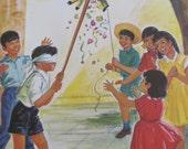 "Original Vintage School Classroom Poster Print - Circa 1967 - Mexico - 9"" x 12"""