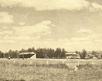 NEW LISKEARD Ontario Vintage Unused Postcard Race Track PECO