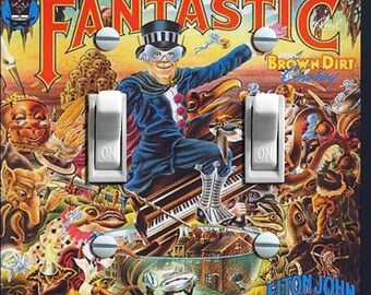 Elton John Captain Fantastic  Album Cover Double Switch Plate ***FREE SHIPPING***
