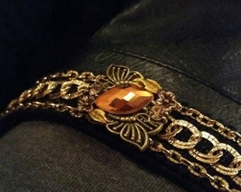 Gold Chain Cuff Bracelet Gift Gypsy Bohemian Jewelry Trending Now Popular Items Sale Jewelry Teen Girls Women