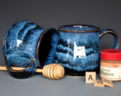 Midnight Blue Mug Ceramic Coffee Mug Stoneware Mug