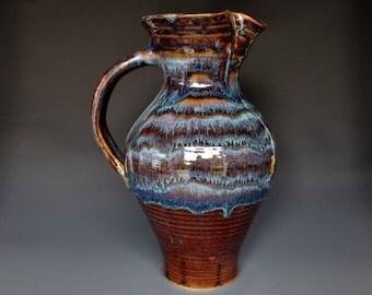 Tall Large Pottery Pitcher Stoneware Flower Vase Handmade Ceramic Vase Pottery