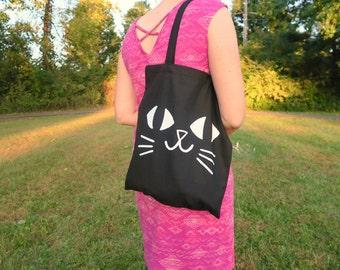 Black Cat Trick or Treating Tote Bag
