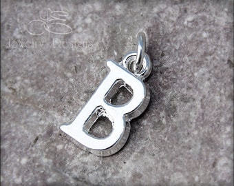 INITIAL ADD ON - initial charm, silver plated initial