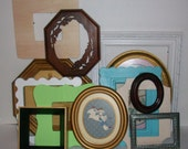 CUSTOM ORDER  MELISR  Set of 13 Unpainted Picture Frames for Gallery Wall, Wedding Decor, Nursery Decor