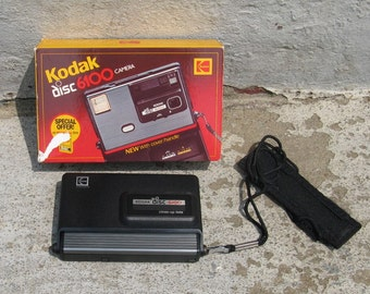 vintage kodak disc 6100 camera 1980s electronics with box