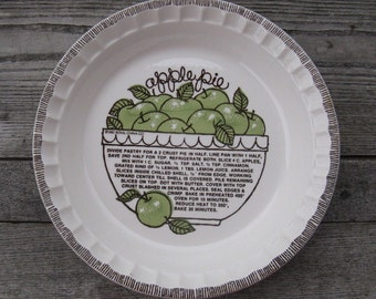 royal china apple pie deep dish plate country harvest ironstone rustic country farmhouse 1983
