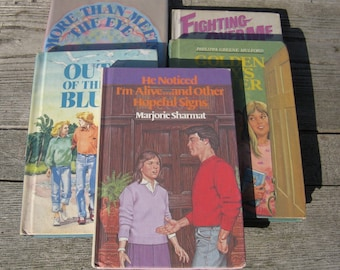 1980s teen romance books vintage teen angst hardcover set of 5